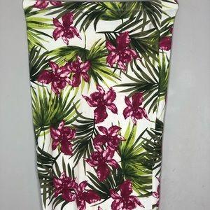 Dresses & Skirts - Midi Flower Fitted Skirt